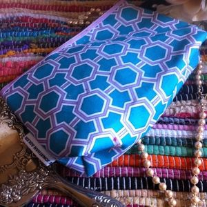 Handbags - Jonathan Adler Blue & Purple Cosmetic Case